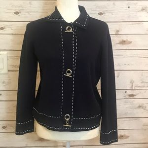 Norton Sweater Navy Blue with White Stitching PS
